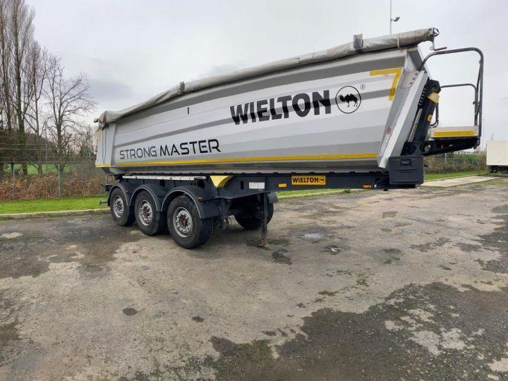 Trailer Wielton Back Dump/Tipper body ALU DEMI RONDE STRONG MASTER 3 ESSIEUX GRIS - 6
