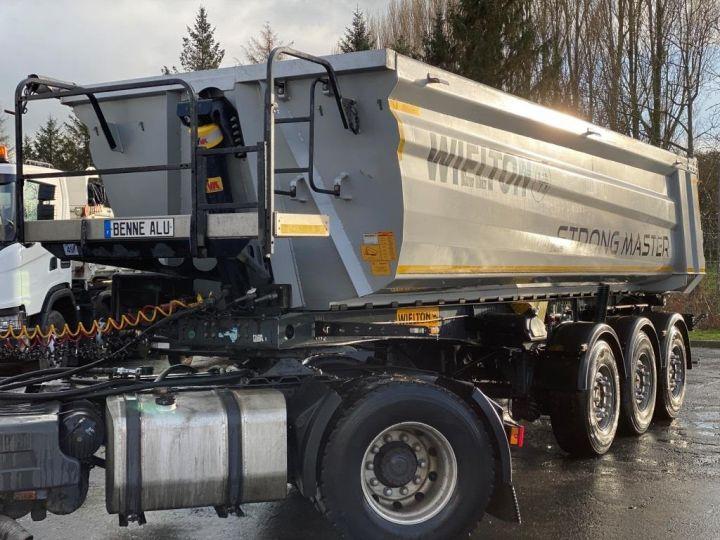 Trailer Wielton Back Dump/Tipper body ALU DEMI RONDE STRONG MASTER 3 ESSIEUX GRIS - 8