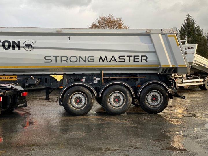 Trailer Wielton Back Dump/Tipper body ALU DEMI RONDE STRONG MASTER 3 ESSIEUX GRIS - 10