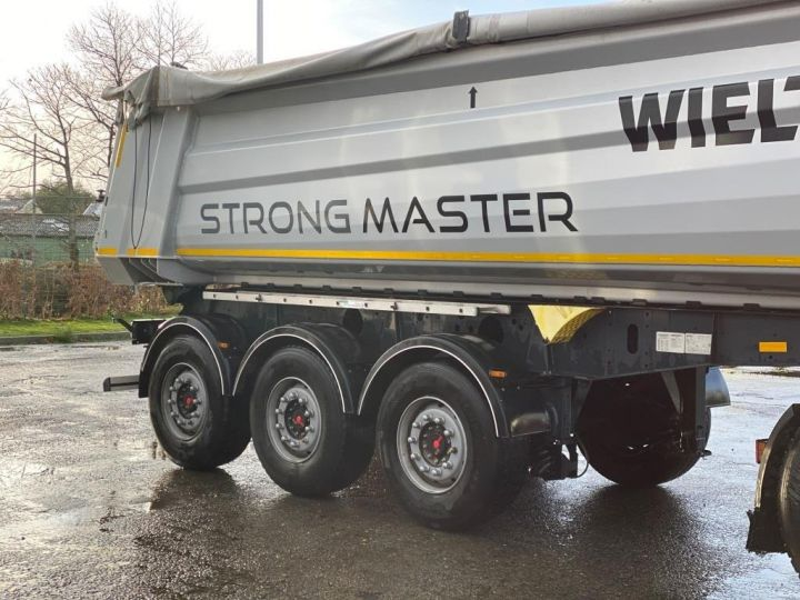 Trailer Wielton Back Dump/Tipper body ALU DEMI RONDE STRONG MASTER 3 ESSIEUX GRIS - 14