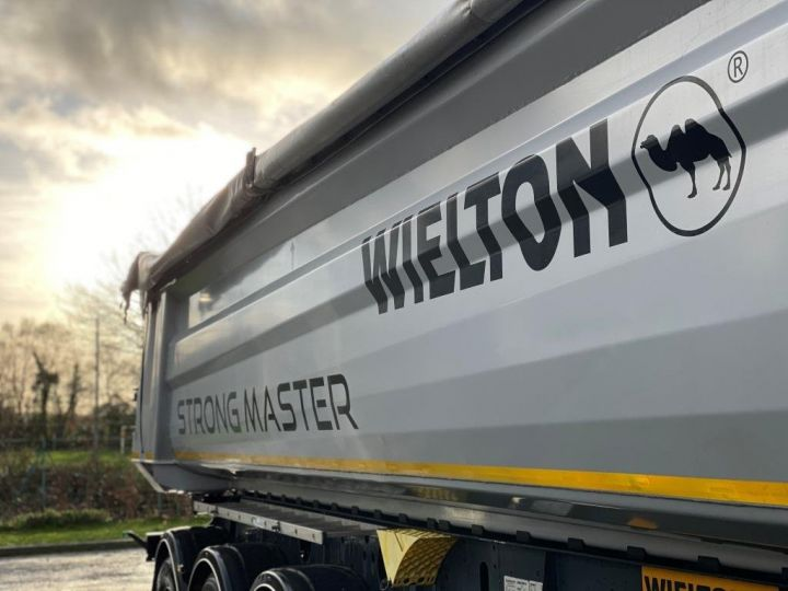 Trailer Wielton Back Dump/Tipper body ALU DEMI RONDE STRONG MASTER 3 ESSIEUX GRIS - 16