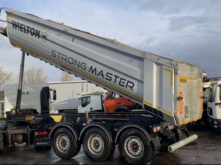 Trailer Wielton Back Dump/Tipper body ALU DEMI RONDE STRONG MASTER 3 ESSIEUX GRIS - 21