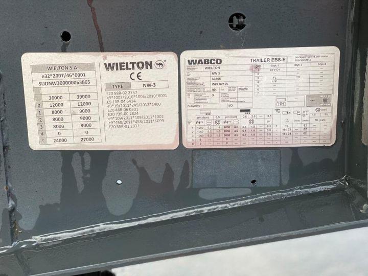 Trailer Wielton Back Dump/Tipper body WIELTON/FRUEHAUF 3 ESSIEUX ALUMINIUM DEMI RONDE  GRIS - 18