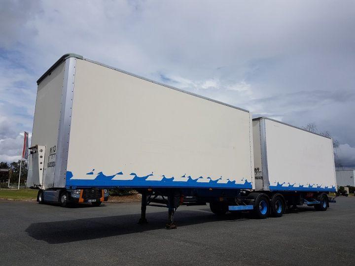 Trailer Asca S219CA Box body BI-TRAIN FOURGON CARGO-ROUTE BLANC - BLEU - 1