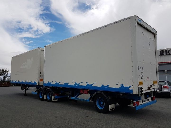 Trailer Asca S219CA Box body BI-TRAIN FOURGON CARGO-ROUTE BLANC - BLEU - 4