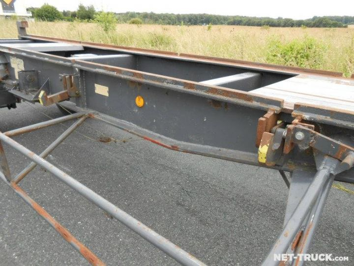 Trailer Pomiers Container carrier body PORTE-BENNE AMOVIBLE 7m. GRIS - 9