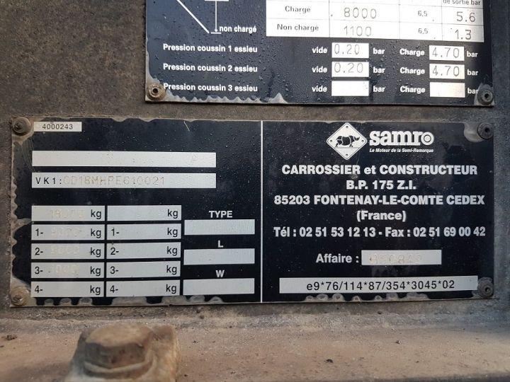 Trailer Samro Container carrier body PORTE-CAISSE MOBILE 7m82 GRIS - 19