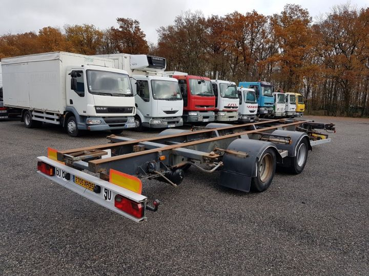 Trailer Samro Container carrier body Remorque 2 essieux PORTE-CAISSE MOBILE NOIR - 2
