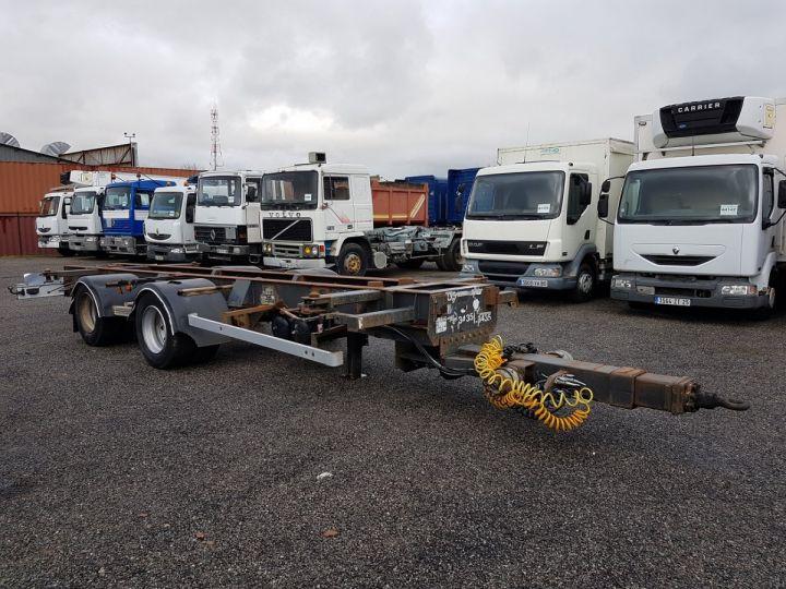 Trailer Samro Container carrier body Remorque 2 essieux PORTE-CAISSE MOBILE NOIR - 3