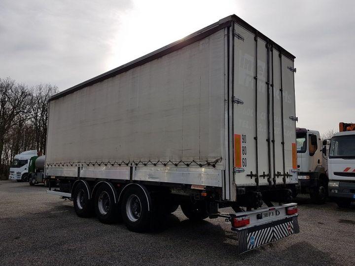 Trailer Fruehauf Curtain side body P.L.S.C. RIDELLES - 3 essieux BLANC - NOIR - GRIS - 4