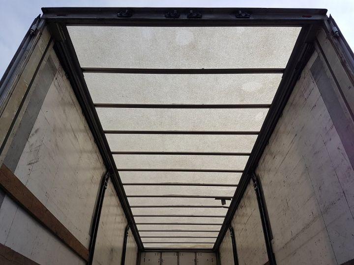 Trailer Fruehauf Curtain side body P.L.S.C. RIDELLES - 3 essieux BLANC - NOIR - GRIS - 8