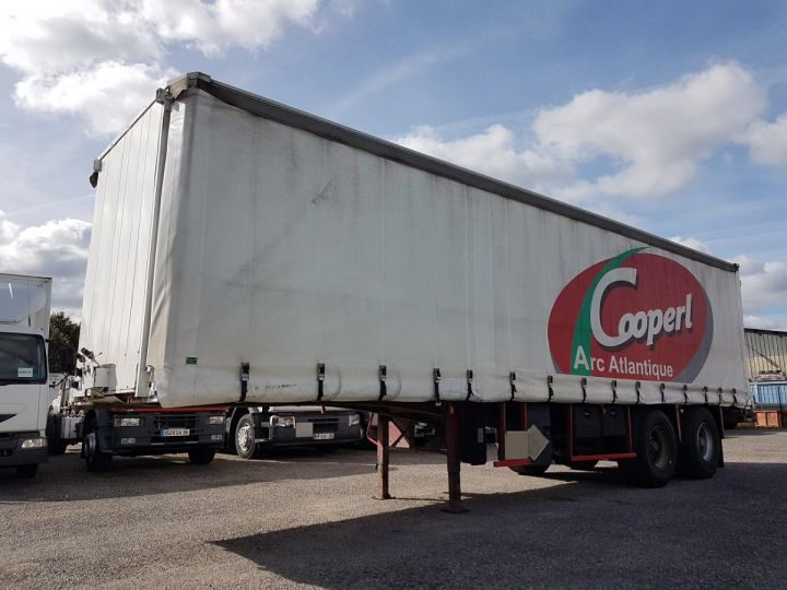 Trailer Leveques Curtain side body P.L.S.C. 10m40 PORTE-CHARIOT MANITOU BLANC - ROUGE - 1