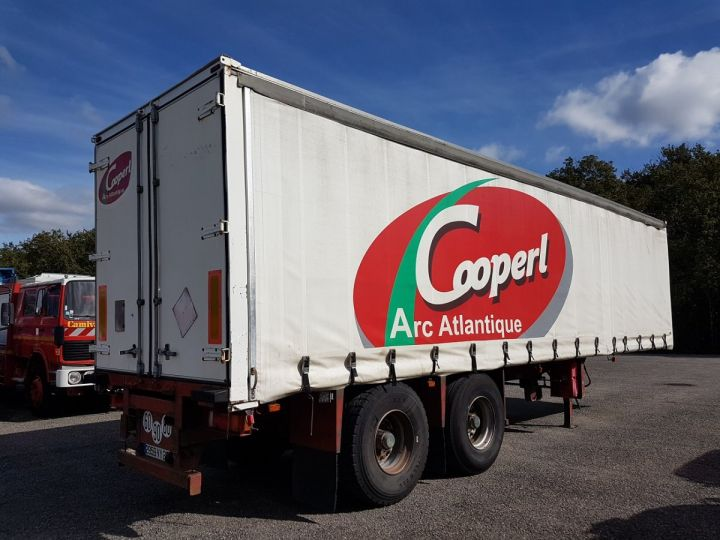 Trailer Leveques Curtain side body P.L.S.C. 10m40 PORTE-CHARIOT MANITOU BLANC - ROUGE - 2