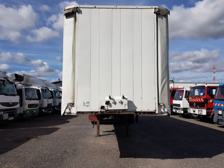 Trailer Leveques Curtain side body P.L.S.C. 10m40 PORTE-CHARIOT MANITOU BLANC - ROUGE - 11