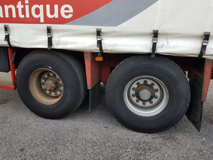 Trailer Leveques Curtain side body P.L.S.C. 10m40 PORTE-CHARIOT MANITOU BLANC - ROUGE - 19