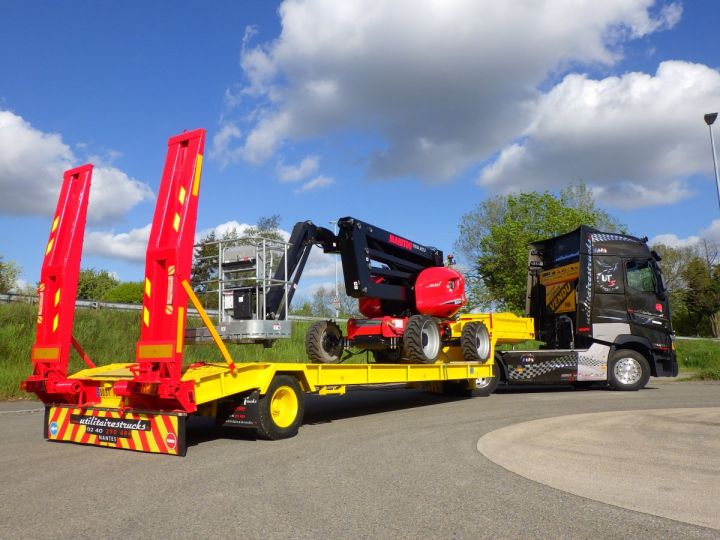 Trailer Actm Heavy equipment carrier body Jaune et rouge - 2