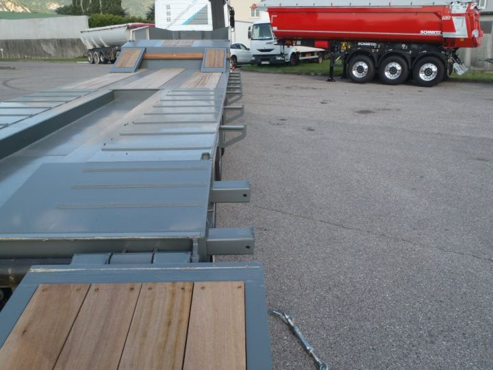 Trailer AMC Castera Heavy equipment carrier body Semi porte-engins 3E NEUVE et DISPO GRIS RAL 7012 - 8