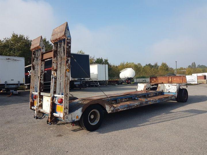 Trailer Samro Heavy equipment carrier body PORTE-ENGINS 2 essieux BLANC - BLEU - 2
