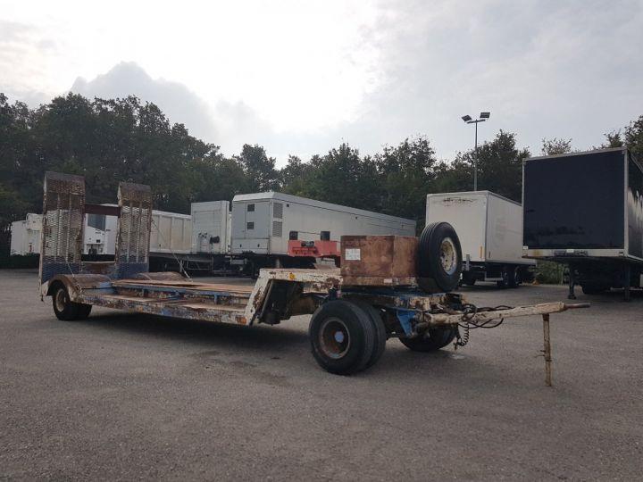 Trailer Samro Heavy equipment carrier body PORTE-ENGINS 2 essieux BLANC - BLEU - 4