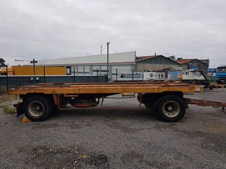 Trailer Kaiser Platform body Remorque PLATEAU PORTE-BENNE 2 essieux JAUNE - 2