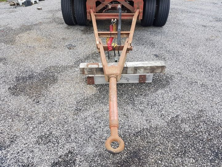 Trailer Kaiser Platform body Remorque PLATEAU PORTE-BENNE 2 essieux JAUNE - 9