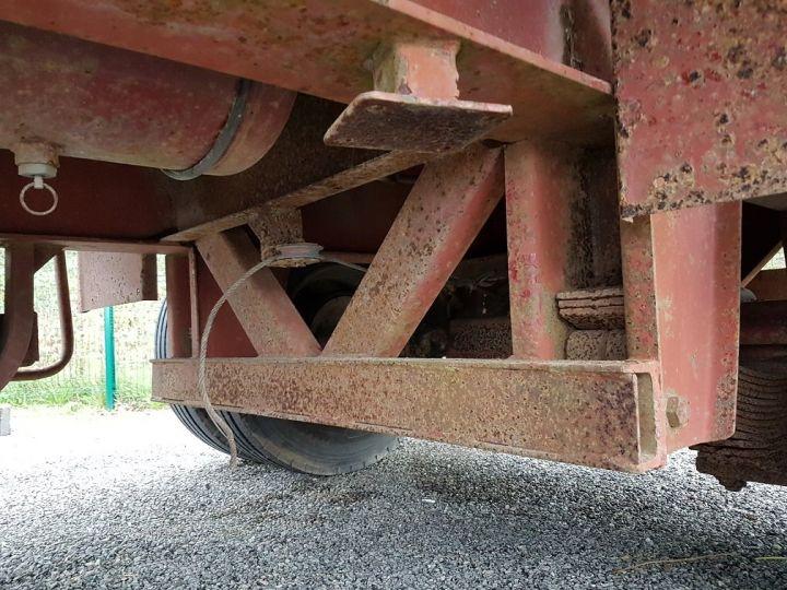 Trailer Kaiser Platform body Remorque PLATEAU PORTE-BENNE 2 essieux JAUNE - 15