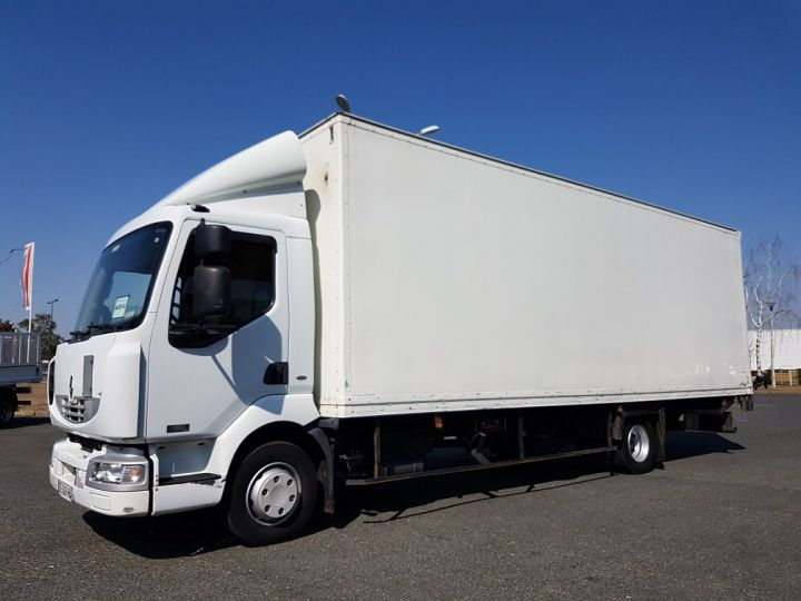 Trucks Renault Midlum Box body + Lifting Tailboard 180dci.12 euro 3 BLANC - 1