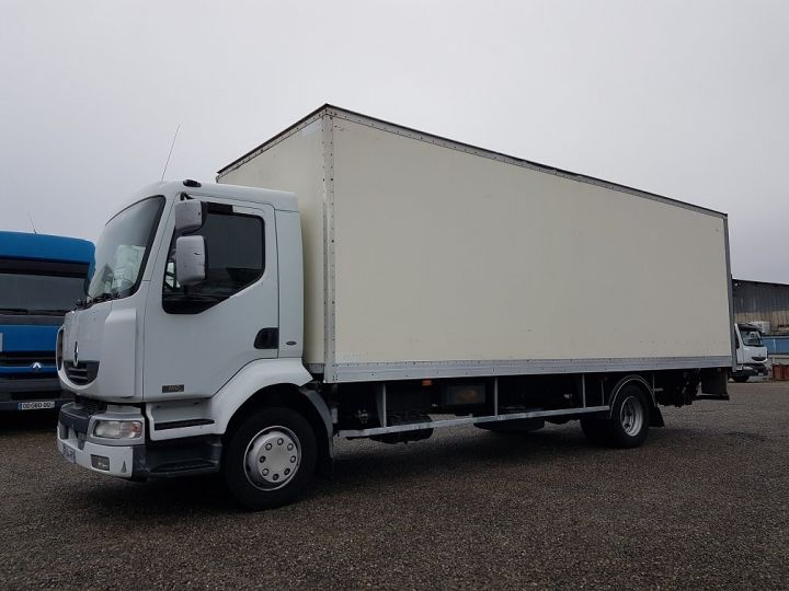 Trucks Renault Midlum Box body + Lifting Tailboard 180dci.13 euro 3 BLANC - 1