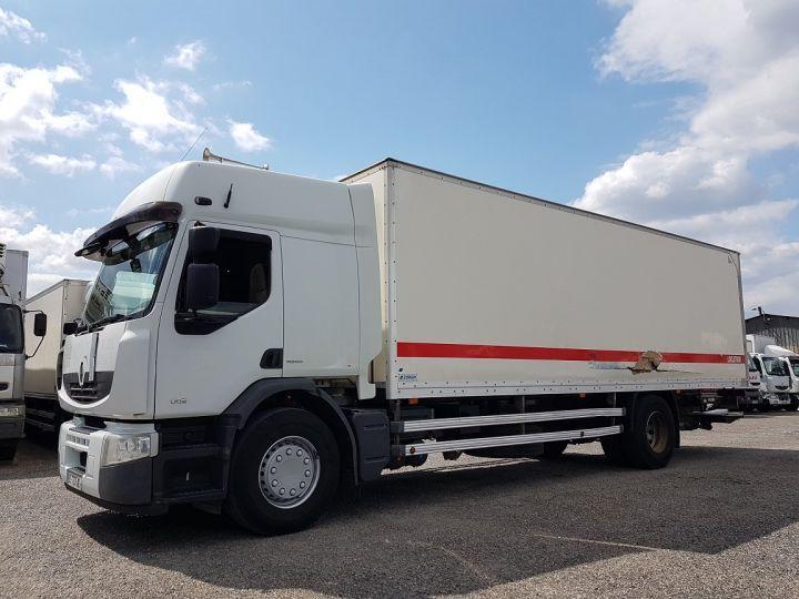 Trucks Renault Premium Box body + Lifting Tailboard 310dxi.19D PRIVILEGE - Fourgon abimé BLANC - 1