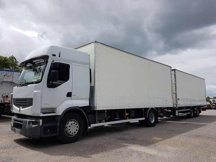 Trucks Renault Premium Box body + Lifting Tailboard 450dxi + SAMRO - COMBI BOX 104m3 BLANC - 1