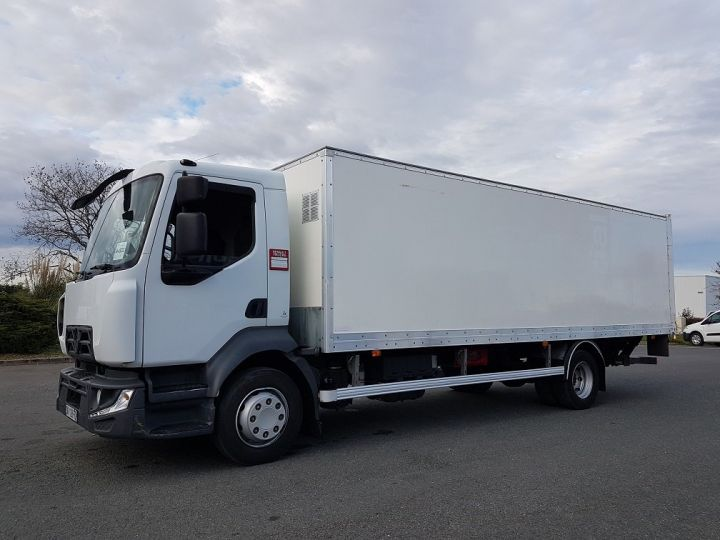 Trucks Renault D Box body + Lifting Tailboard 12.210dti euro 6 BLANC - 1