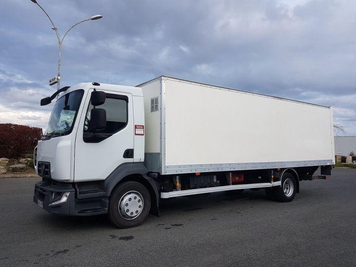 Trucks Renault D Box body + Lifting Tailboard 12.210dti euro 6 BLANC - 1
