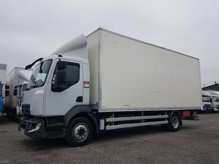 Trucks Renault D Box body + Lifting Tailboard 12.210dti FOURGON 6m50 BLANC - 1