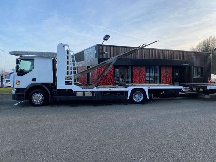 Trucks Renault Premium Car carrier body  REMORQUE LOHR gris - 1