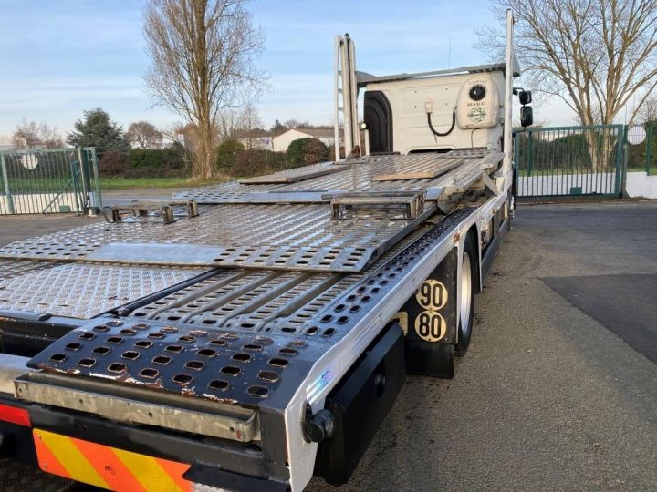 Trucks Renault Premium Car carrier body  REMORQUE LOHR gris - 5