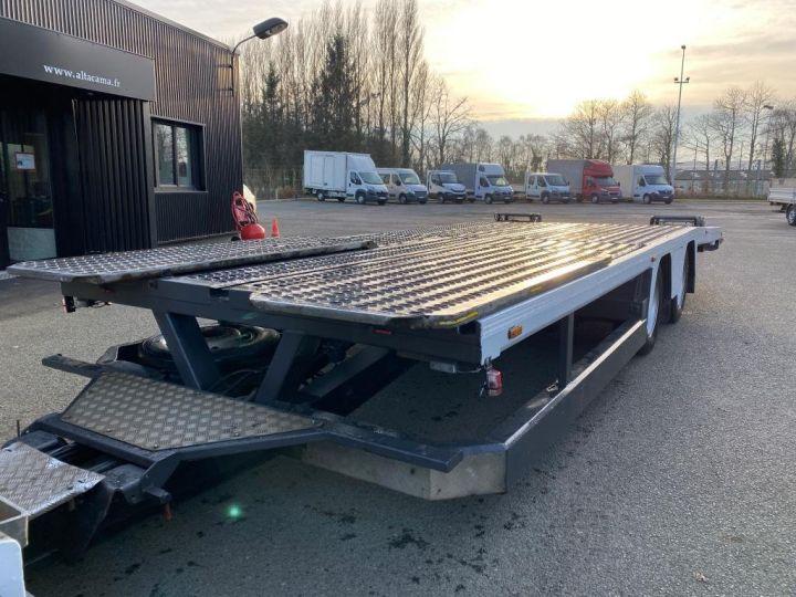 Trucks Renault Premium Car carrier body  REMORQUE LOHR gris - 7