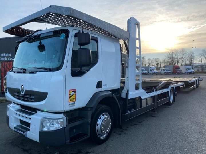 Trucks Renault Car carrier body RENAULT PREMIUM 460 PORTE VOITURE REMORQUE LOHR blanc - 2