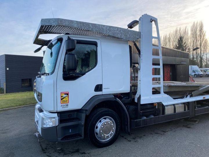 Trucks Renault Car carrier body RENAULT PREMIUM 460 PORTE VOITURE REMORQUE LOHR blanc - 3