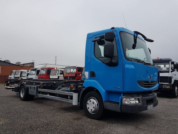 Trucks Renault Midlum Container carrier body 220dxi.12 PORTE-CAISSE 6m80 BLEU - 5