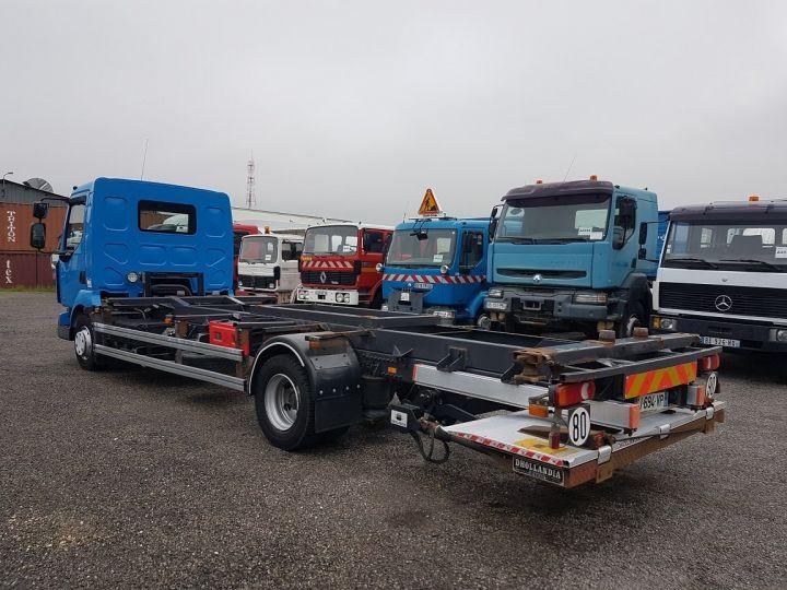 Trucks Renault Midlum Container carrier body 220dxi.12 PORTE-CAISSE 6m80 BLEU - 6