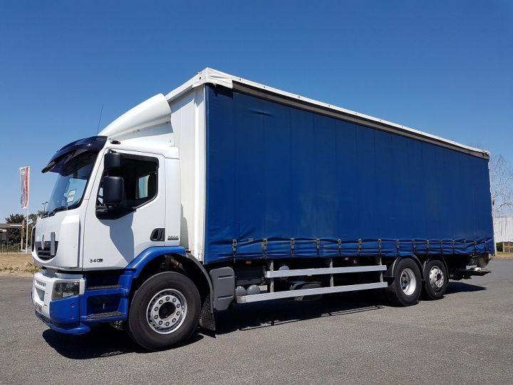 Trucks Renault Premium Lander Curtain side body 340dxi.26 6x2 S euro 5 BLANC et BLEU - 1