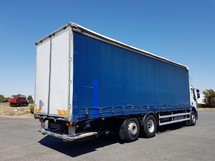 Trucks Renault Premium Lander Curtain side body 340dxi.26 6x2 S euro 5 BLANC et BLEU - 2