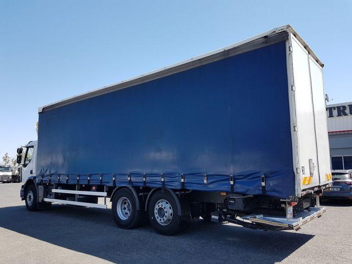 Trucks Renault Premium Lander Curtain side body 340dxi.26 6x2 S euro 5 BLANC et BLEU - 5