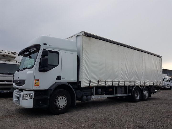 Trucks Renault Premium Curtain side body 410dxi.26 6x2 S PRIVILEGE BLANC - 1