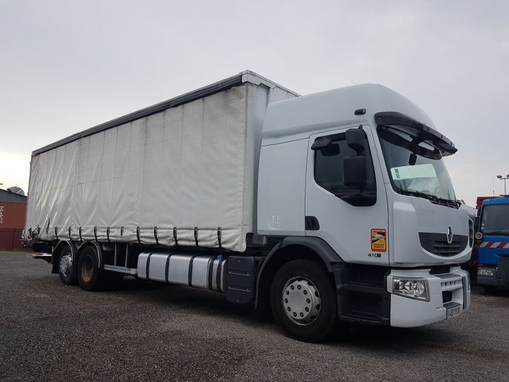 Trucks Renault Premium Curtain side body 410dxi.26 6x2 S PRIVILEGE BLANC - 4