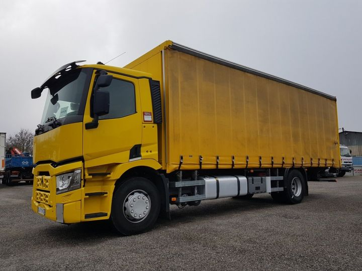 Trucks Renault T Curtain side body 460.19 JAUNE - 1