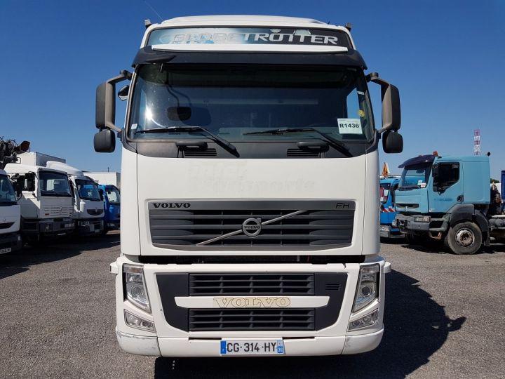 Trucks Volvo FH13 Curtain side body 500 + SAMRO 3 essieux (2002) - COMBI 110m3 BLANC - 5