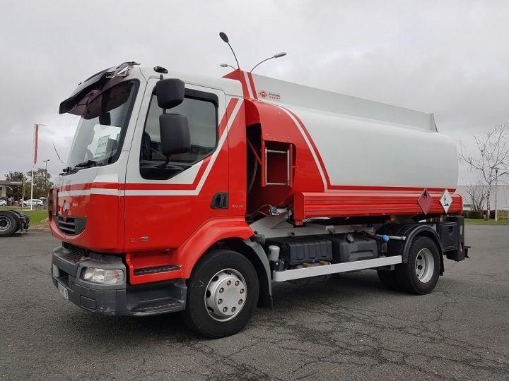 Trucks Renault Midlum Fuel tank body 280dxi.16 - 11000 litres BLANC - ROUGE - 1