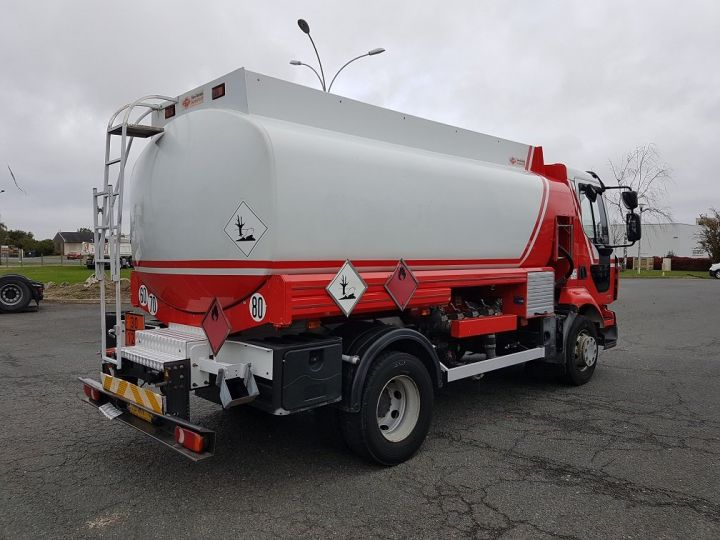 Trucks Renault Midlum Fuel tank body 280dxi.16 - 11000 litres BLANC - ROUGE - 2