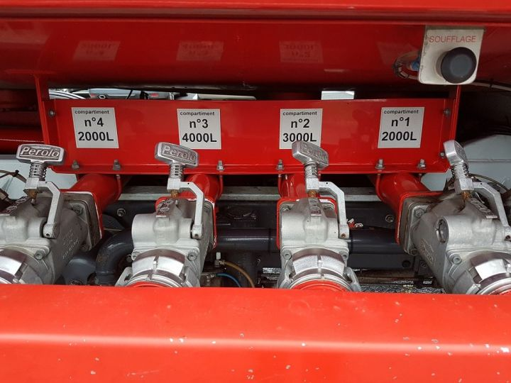 Trucks Renault Midlum Fuel tank body 280dxi.16 - 11000 litres BLANC - ROUGE - 6